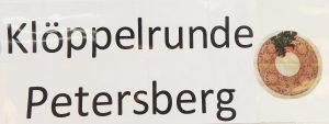 Klöppelrunde Petersberg Schild